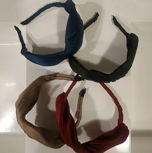 Burgundy Japanese Large Bow Headband